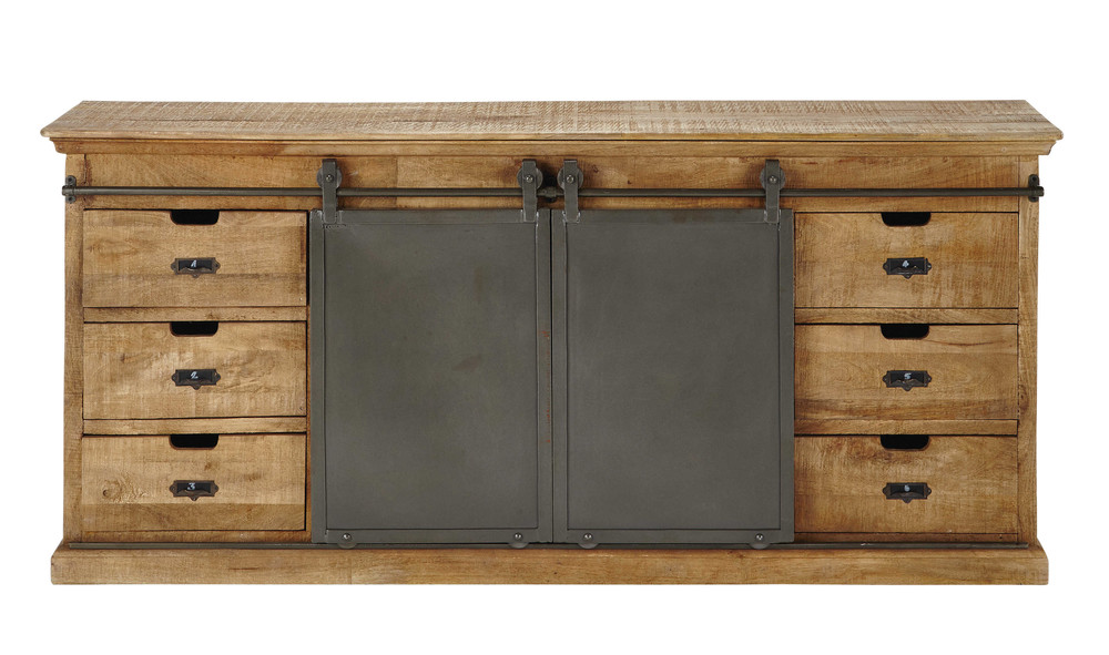 Credenza bassa in massello di mango L 190 cm Germain