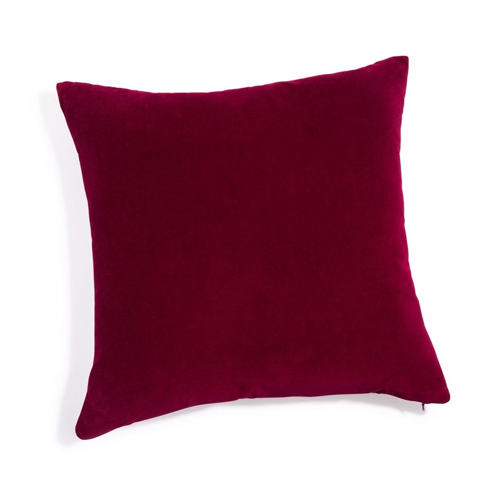 Cuscino in velluto rosso 45x45 cm  Maisons du Monde