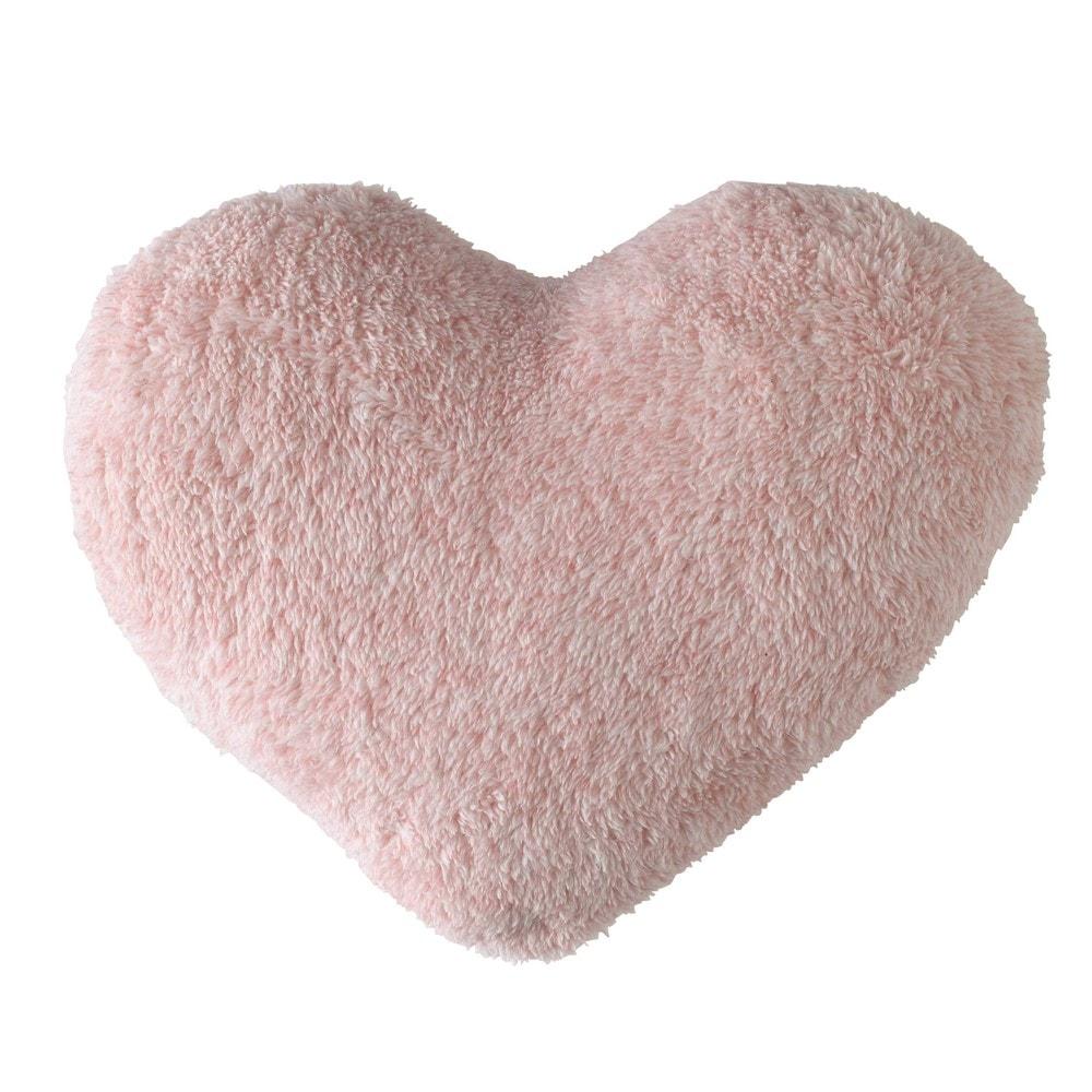 Cuscino rosa a forma di cuore 29 x 32 cm  Maisons du Monde