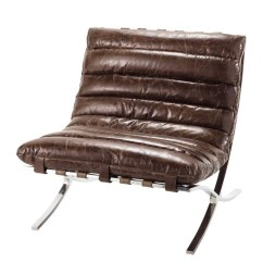 Distressed Leather Armchair Uk Adjustable Height Chair Brown Beaubourg | Maisons Du Monde