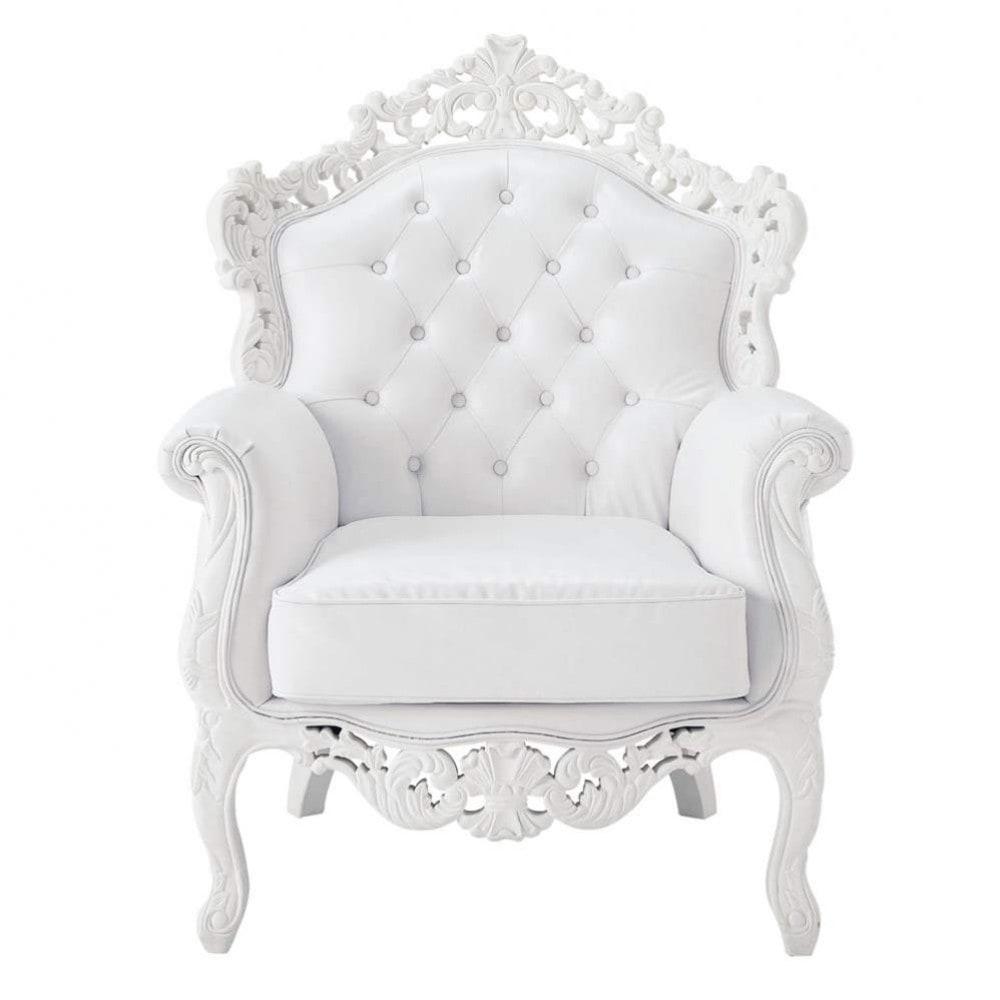 Fauteuil Capitonne Blanc Maison Design