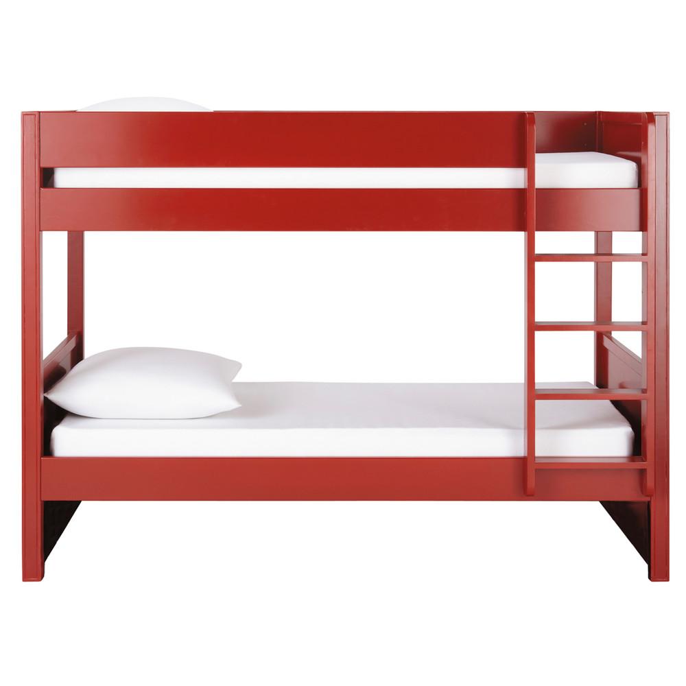 Letto a castello rosso in legno 90 x 190 cm Newport  Maisons du Monde