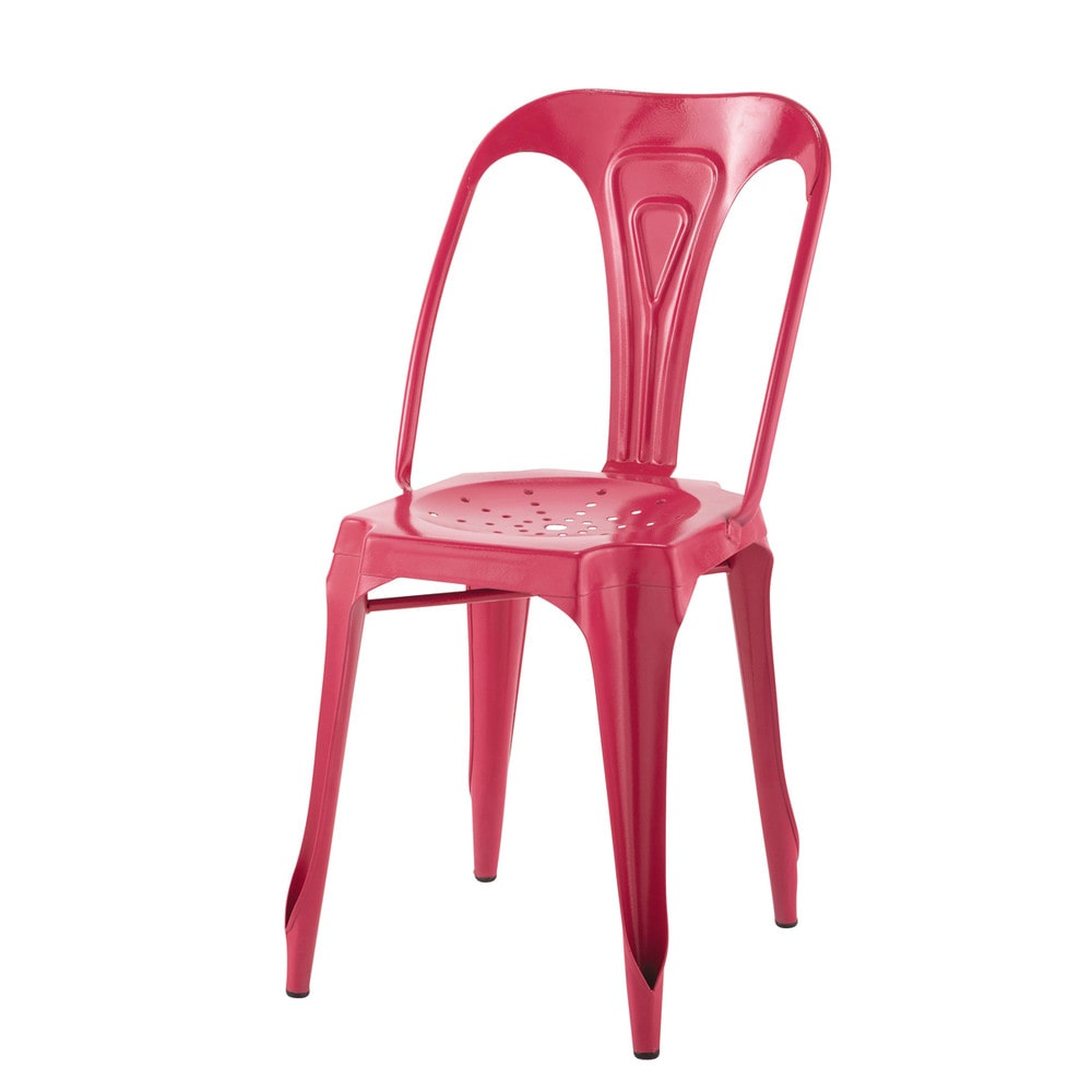 Metal industrial chair in pink Multipls  Maisons du Monde