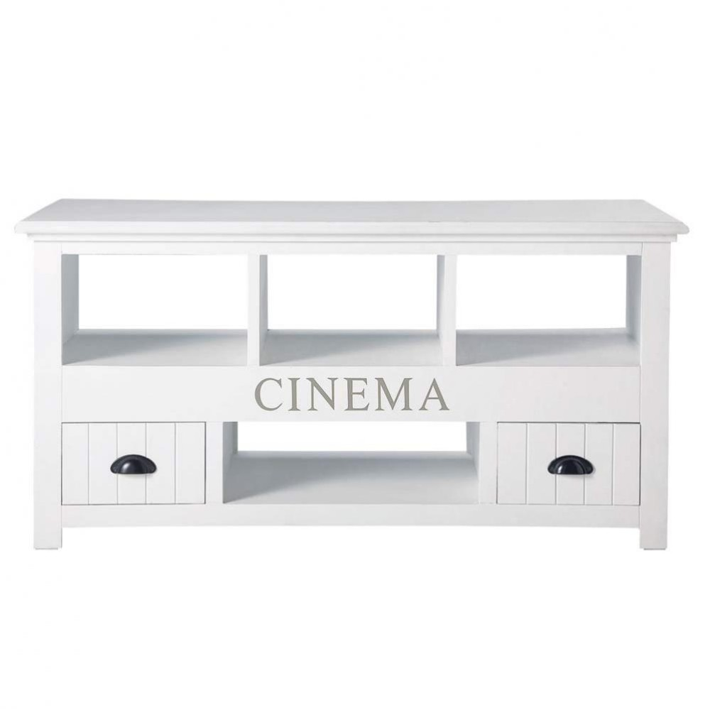 Meuble TV Blanc Newport Maisons Du Monde