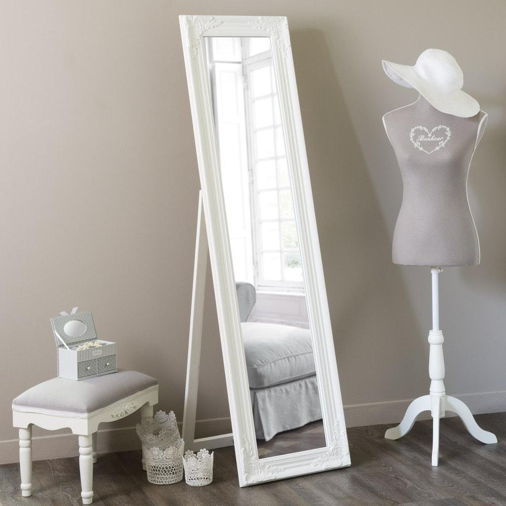 Miroir Psych Blanc H 164 Cm ENZO Maisons Du Monde