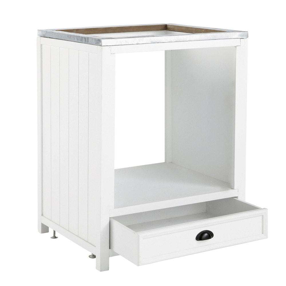Mobile basso bianco da cucina in legno per forno L 70 cm Newport  Maisons du Monde
