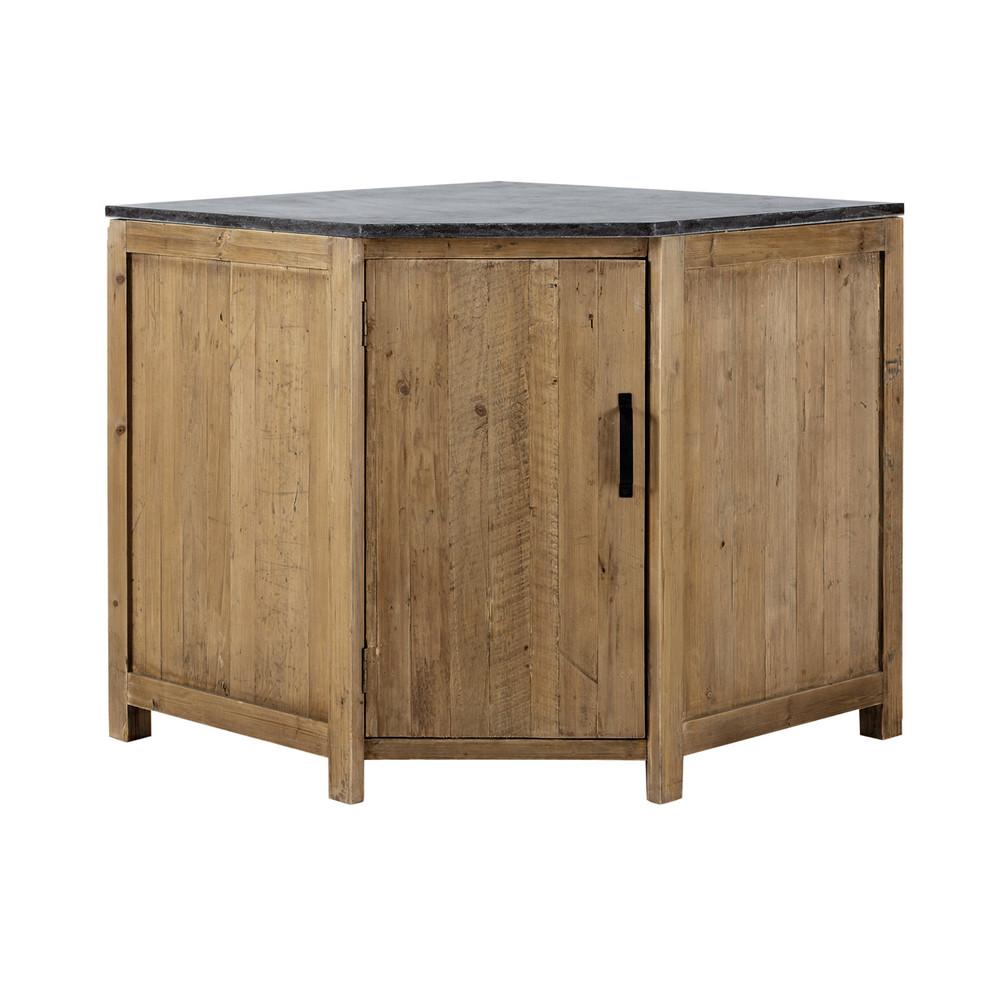 Mueble bajo de cocina esquinero de madera reciclada An 97 cm Pagnol  Maisons du Monde