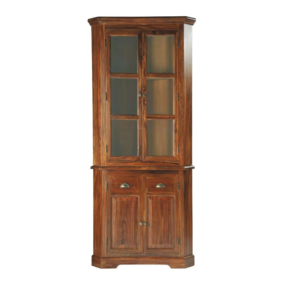 Mueble esquinero de madera maciza de palo rosa An 90 cm Lubron  Maisons du Monde