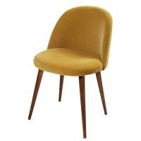 Mustard Yellow Velvet Vintage Chair Mauricette | Maisons ...