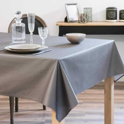 Nappe enduite gris anthracite 140 x 250 cm MIRAGE