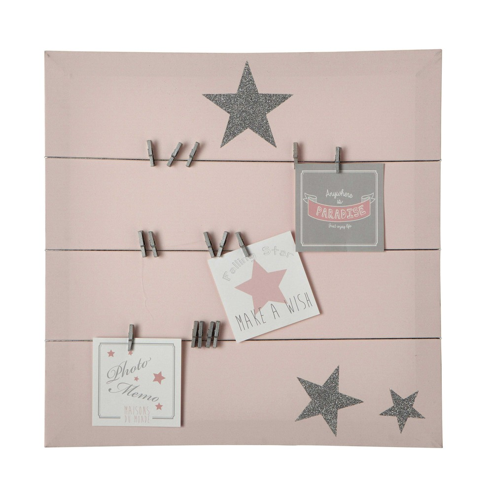 Cheap Pastel Canvas Memo Board In Pink X Cm With Maison Du