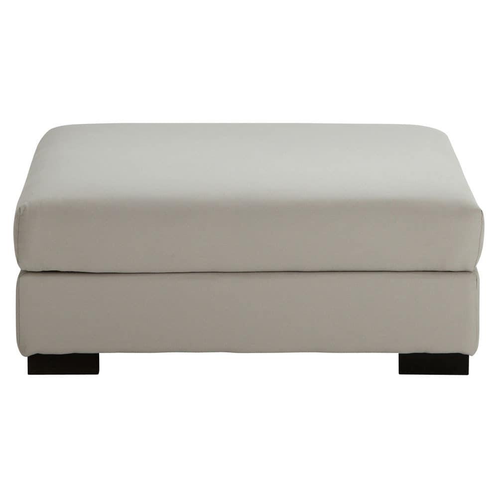 Pouf per divano grigio chiaro modulabile in cotone Terence