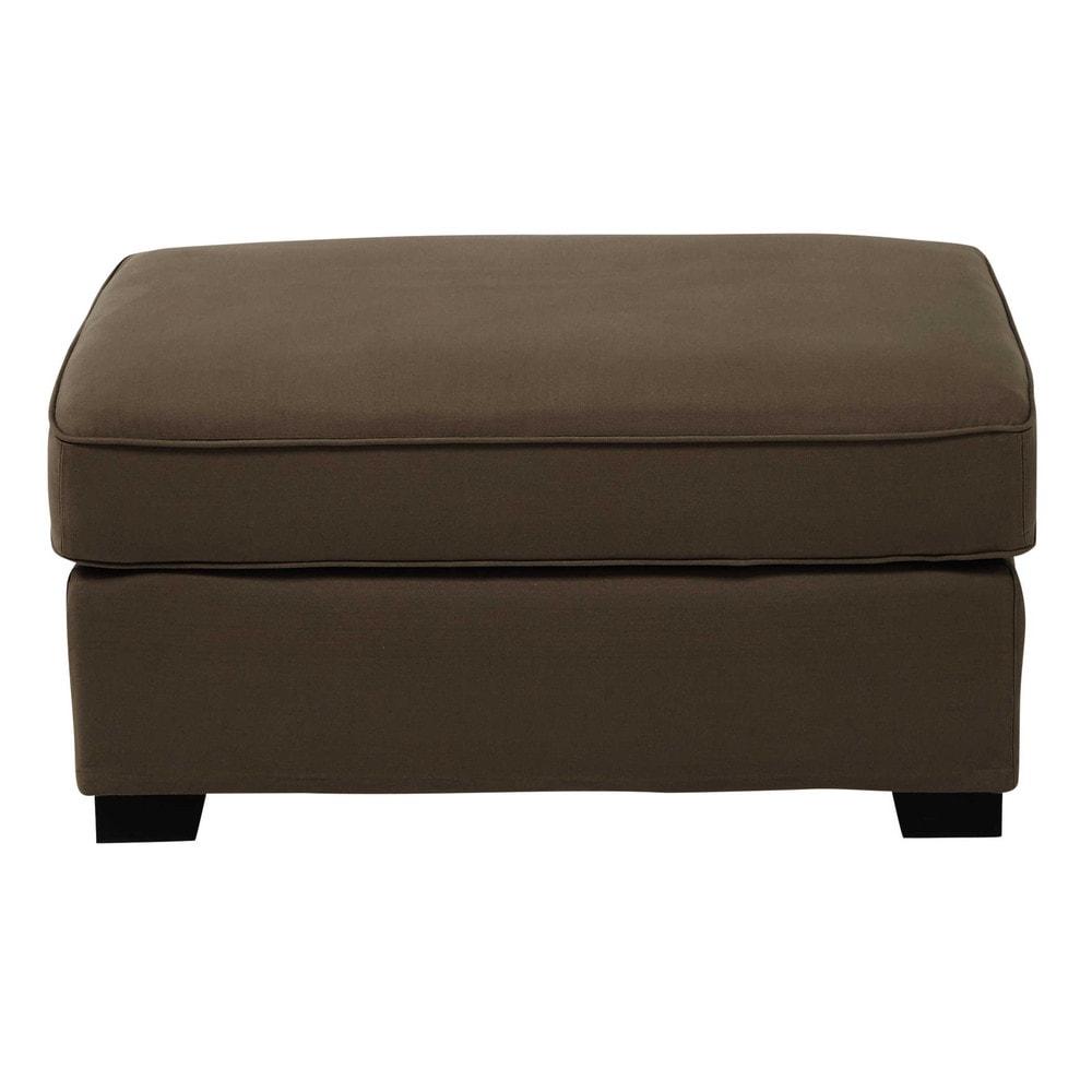 Pouf per il divano modulabile di cotone talpa Milano  Maisons du Monde