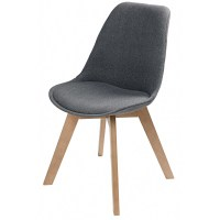 Scandinavian-Style Mottled Grey Fabric Chair Ice | Maisons ...