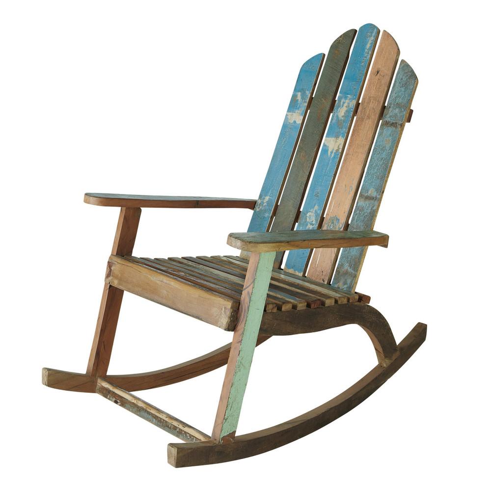Sedia a dondolo in legno riciclato Calanque  Maisons du Monde