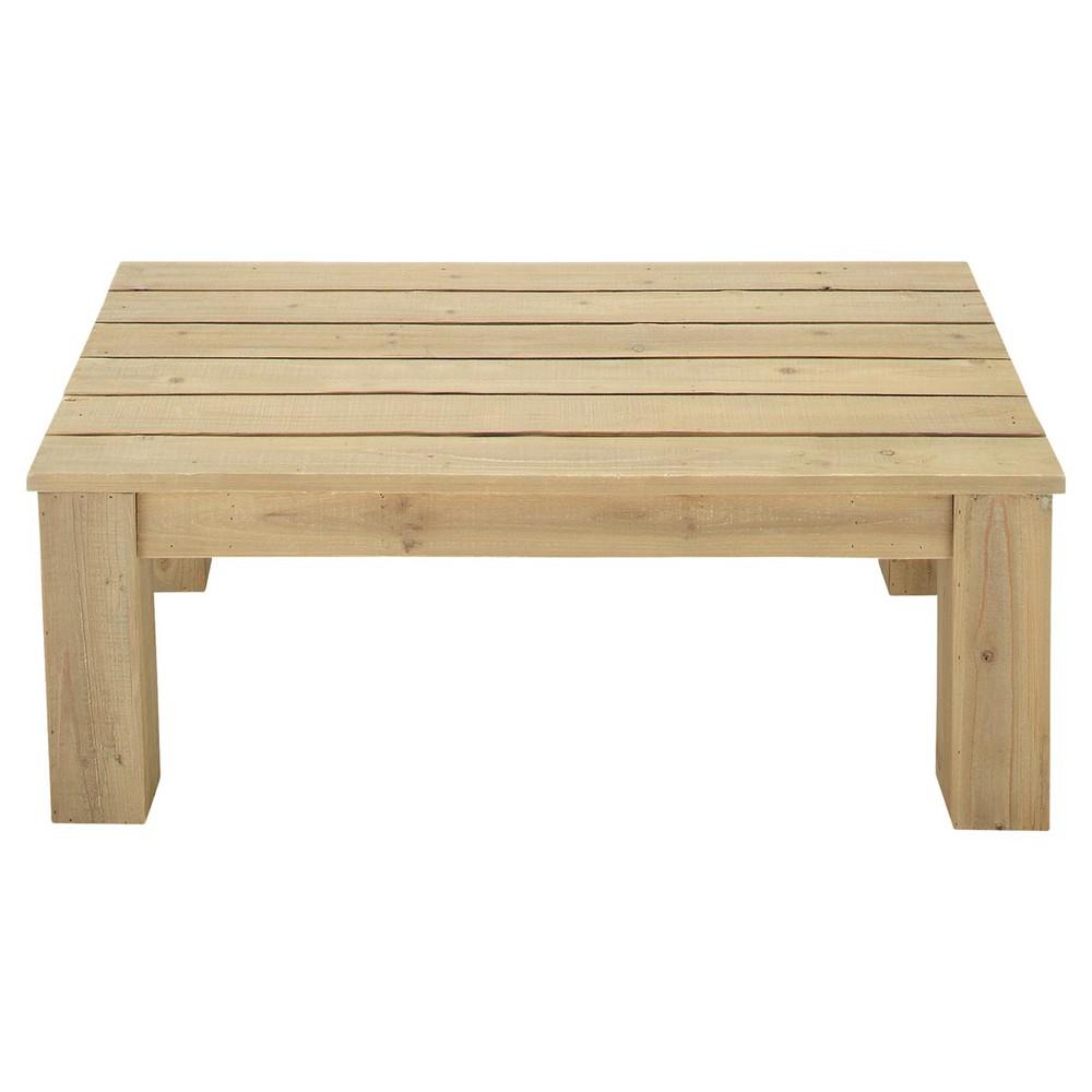 Table basse de jardin en bois L 100 cm Brehat  Maisons du Monde