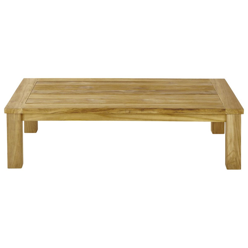Table basse de jardin en teck L 130 cm Belleile  Maisons du Monde