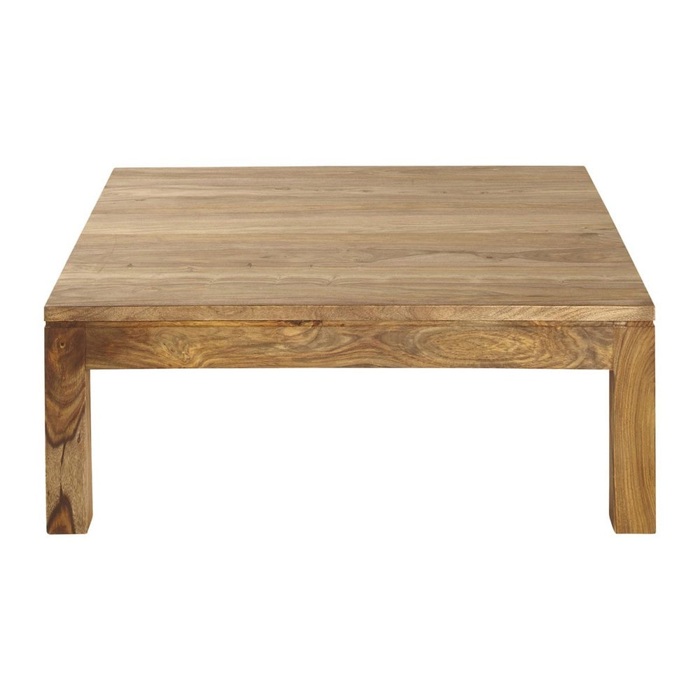 Table basse en bois de sheesham massif L 100 cm Stockholm  Maisons du Monde