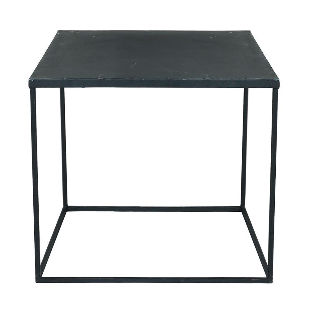 Table Basse Indus En Metal Noir