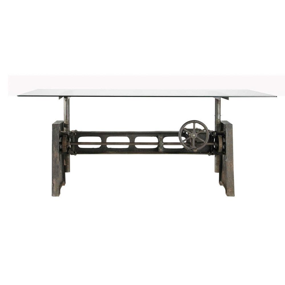 Tavolo per sala da pranzo in vetro e metallo L 200 cm Garibaldi  Maisons du Monde