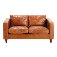 Vintage-Sofa 2-Sitzer aus Leder, braun Henry Henry ...