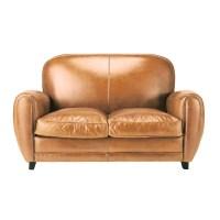 Vintage-Sofa 2-Sitzer aus Leder, cognac Oxford | Maisons ...
