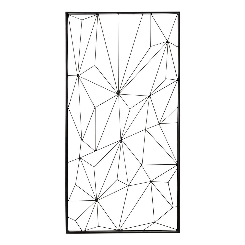 Wanddekoration NETWORK aus Metall, schwarz, 62x121
