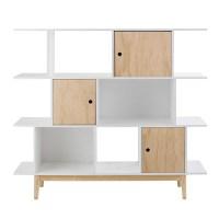 White wooden bookcase L 145 cm Happy | Maisons du Monde