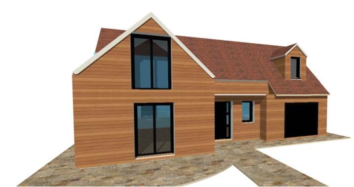 P 19  Nouveaux Modele RDCR1RCombles  Maisons Bois France Foret Architecte Constructeur