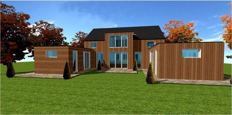 une maison bois moins chere
