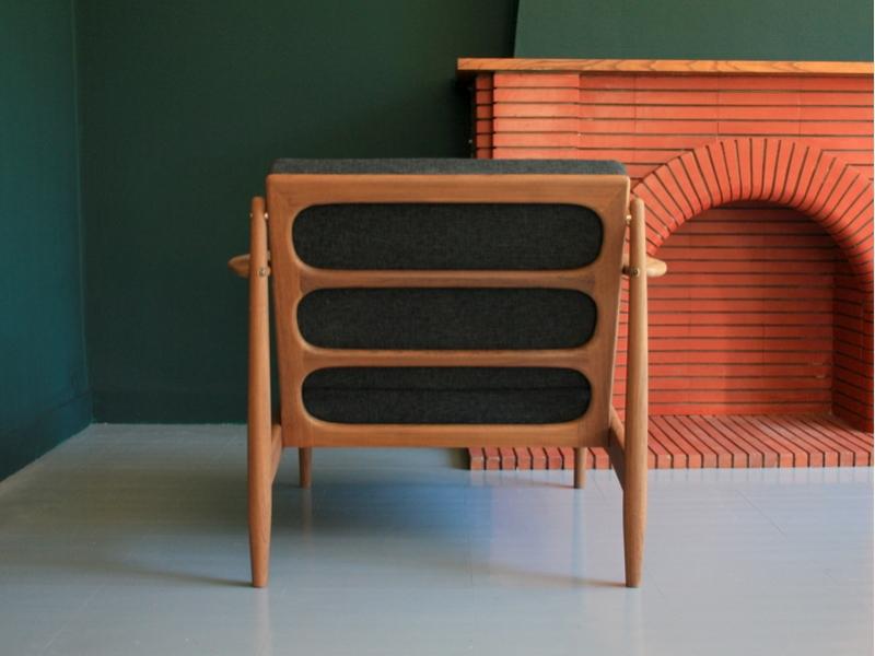 fauteuil scandinave grete jalk danois