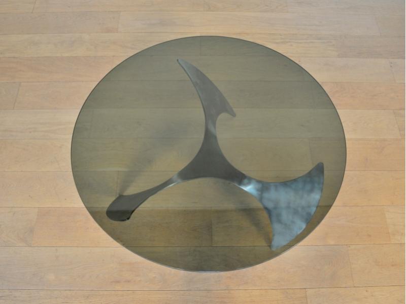 Table Basse Ronde Helice Propeller Knut HESTERBERG Maison