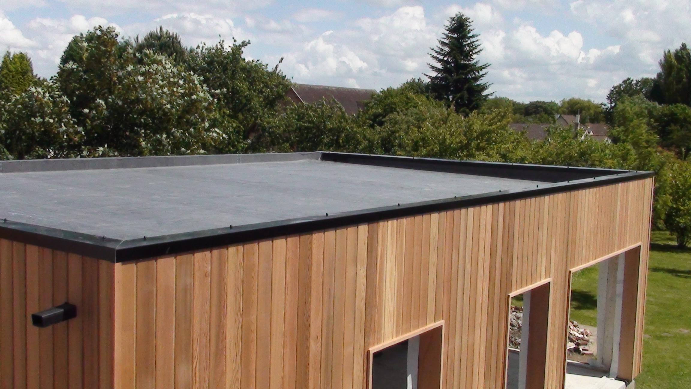 construction de toiture plate étanche - ALTERNATIVE BOIS CONCEPT