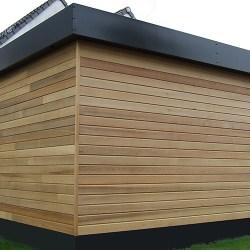 maison ossature bois red cedar toiture plate drouvin