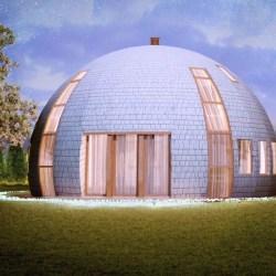 maison bois dome