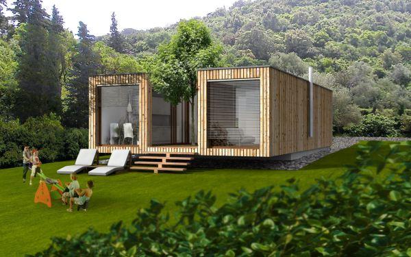 Petite Maison Prfabriqu En Bois - Parallele