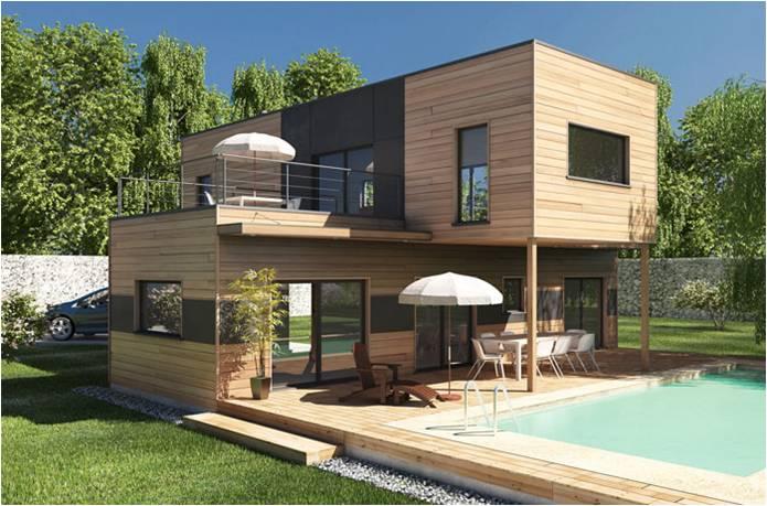 Constructeur bois de maisons ossature bois  Maisons Qualitis Construction de Maison Haut de