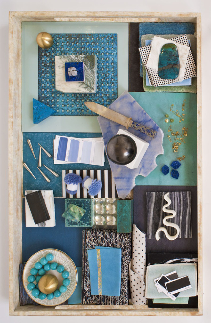 Mood Board Green and Blue pallete inspiration for bathroom