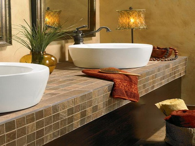 Bathroom countertops: top Surface Materials