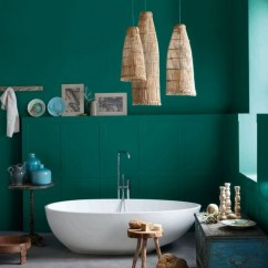 Warm Green Colors For Living Room Vastu Study Table In Bring Nature Inside The Bathroom With Lush Meadow ...