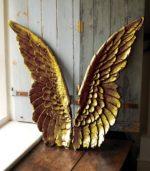gold angel wings wall art