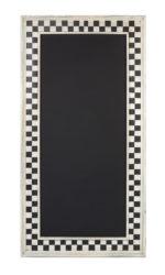 CHALKBOARD CHECKER H1370XW685MM WHT/BLK