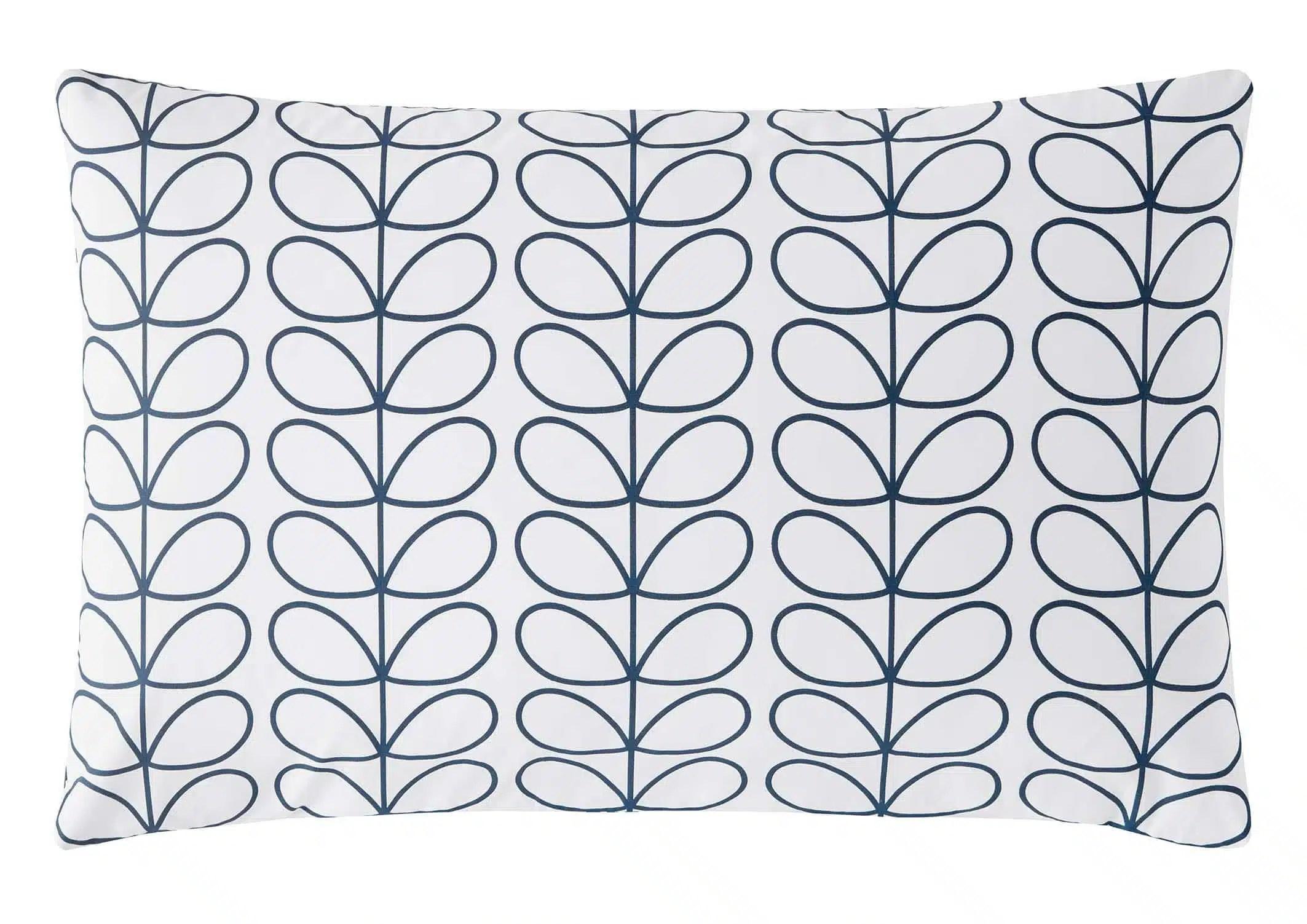 Orla Kiely Tiny Stem Retro Leaf Designer Bedding in Whale Navy Blue 100/% Cotton