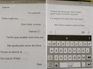 Polícia anexou conversa de celular ao procedimento de investigação (Foto: Reprodução/TV Diário)