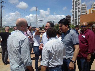 visita técnica a primeira etapa da Ponte da Beira Rio