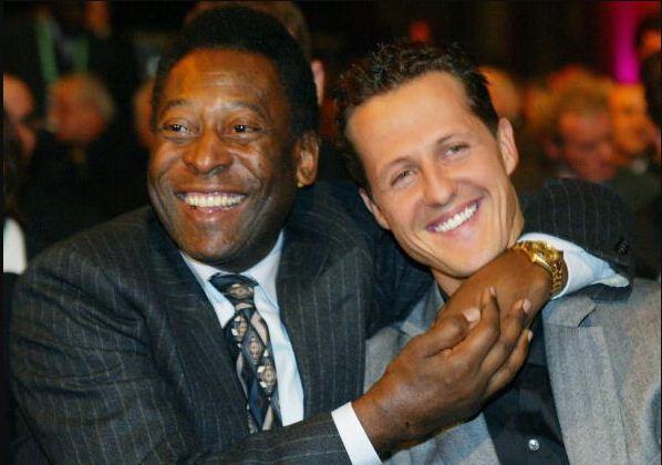 Pelé manda mensagem de aniversário para Schumacher: