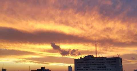 Pôr do Sol em João Pessoa, capital paraibana
