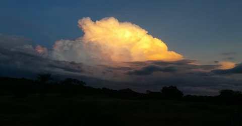 Céu de Santa Helena, sertão paraibano