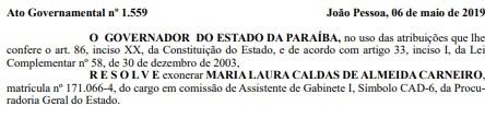 ooo - Servidora presa na 4ª fase da Operação Calvário é exonerada pelo Estado