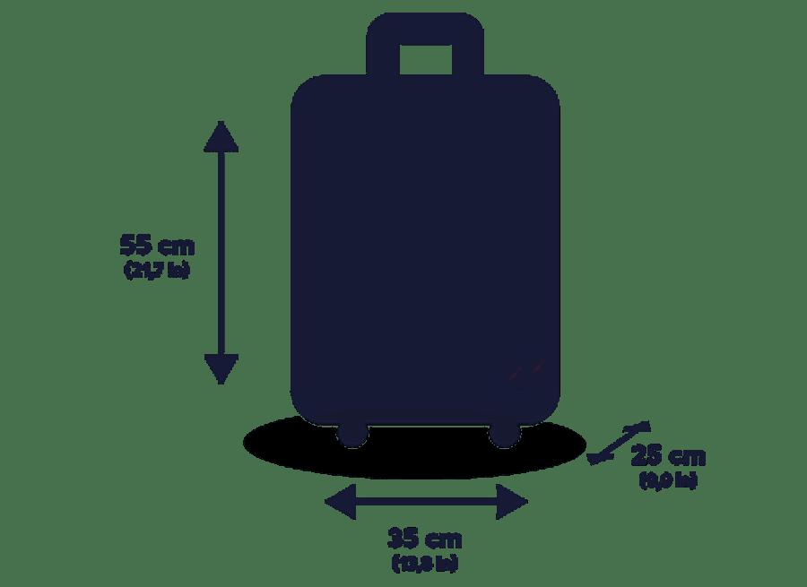 BAGAGEM-CABINE Novas regras de franquia de bagagem